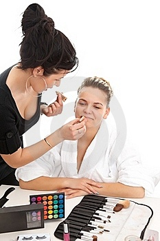 At The Beautician Royalty Free Stock Photos - Image: 19682508