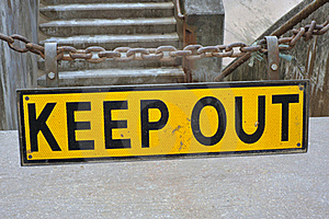 Keep Out Sign Stock Photography - Image: 19682652