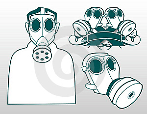 Gas Masks Stock Image - Image: 19683581