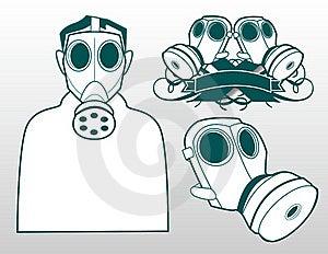Gas Masks Stock Image - Image: 19683581