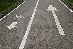 Bicycle Lane And Walkway Stock Photos - Image: 19683843