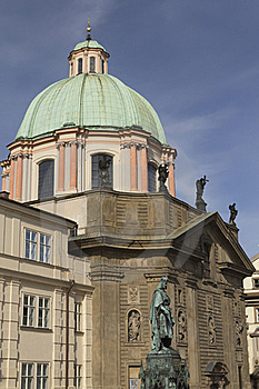 Dome Of St. Francis Of Assisi In Prague Stock Photo - Image: 19684410