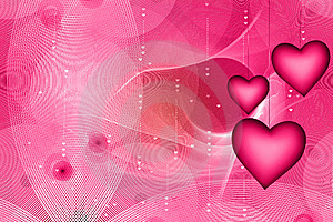 Pink Hearts Stock Images - Image: 19684904