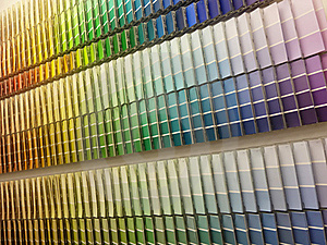 Color Paint Swatches Stock Photography - Image: 19690422