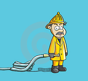 Fireman Holding Hose Stock Images - Image: 19691364