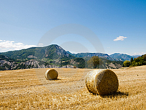 Hay Bales In Provence, France Stock Photography - Image: 19692402