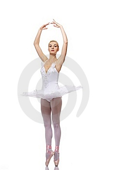 Beautiful Ballet Dancer Isolated On White Stock Images - Image: 19692444