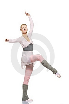 Beautiful Ballet Dancer Isolated On White Stock Image - Image: 19692451