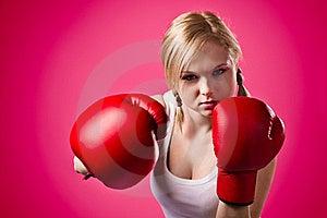 Boxing Woman Stock Image - Image: 19692501