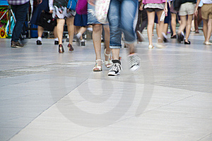 Walk Comfortable On Twilight Footpath Royalty Free Stock Images - Image: 19692629