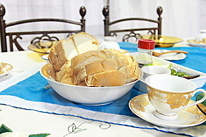 Breakfast With English Bread Stock Photo - Image: 19693050