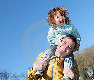 Litlle Girl With Father In The Park Royalty Free Stock Image - Image: 19693796