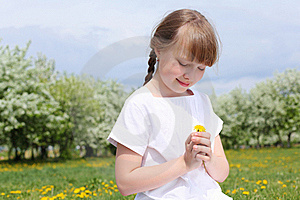 Little Girl In Spring Park Royalty Free Stock Photo - Image: 19693825