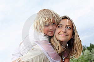 Girl With Mother In The Park Royalty Free Stock Image - Image: 19693836