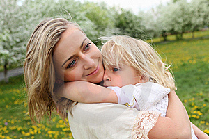 Girl With Mother In The Park Royalty Free Stock Photos - Image: 19693838