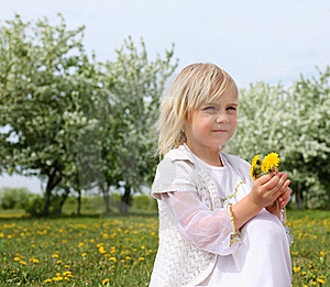 Little Girl In Spring Park Royalty Free Stock Photos - Image: 19693848