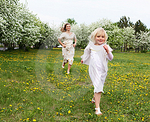 Girl With Mother In The Park Stock Photography - Image: 19693862