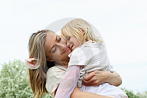 Girl With Mother In The Park Royalty Free Stock Image - Image: 19693866