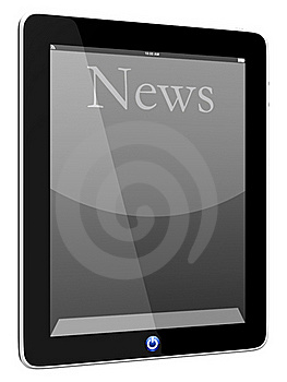 News On Tablet PC Computer Royalty Free Stock Photos - Image: 19693948