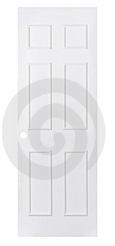 Empty White Door Isolated On White  Stock Photography - Image: 19696962