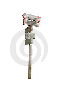 Wooden Signpost Royalty Free Stock Photo - Image: 19697365