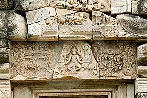 Stone Engraving In Pimai Ancient City Stock Photos - Image: 19699703