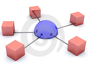 Network concept Stock Photo