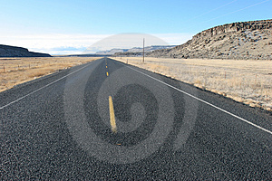 Straight Highway Free Stock Photo