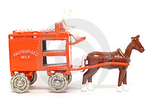 Old Toy Car Horse Drawn Milk Float Royalty Free Stock Image - Image: 1973366