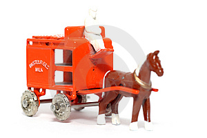 Old Toy Car Horse Drawn Milk Float #2 Stock Photos - Image: 1973373