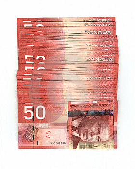 Canadian Fifty Dollar Bills Stock Images - Image: 1975874