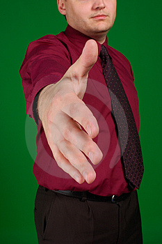 The stretched hand Royalty Free Stock Image