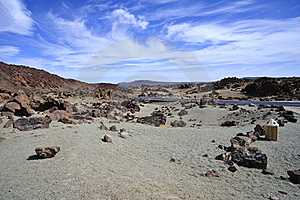 Mountain On Tenerife, El Teide Volcano Royalty Free Stock Photography - Image: 19700747