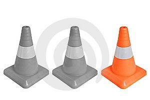 Three Emergency Cone Stock Image - Image: 19701331