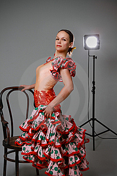 Young Woman Dancing Flamenco Stock Photography - Image: 19701642