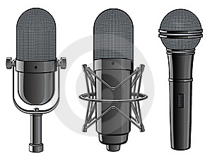 Isolated Image Of Microphones Royalty Free Stock Photography - Image: 19703767