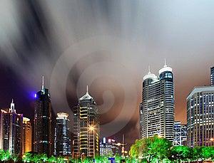 China Shanghai Panorama Stock Image - Image: 19704301