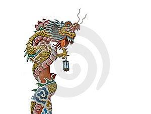 Chinese Dragon Pillars Royalty Free Stock Photos - Image: 19705578