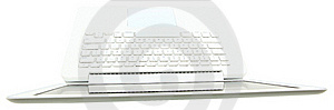 Top View Of  White Laptop Keyboard Stock Photos - Image: 19705793