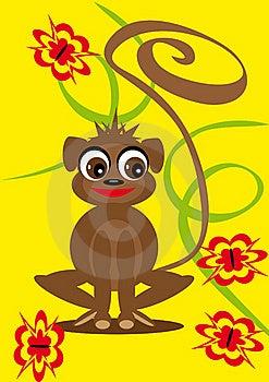 Small Animation Monkey On The Isolated Background Stock Photography - Image: 19707682