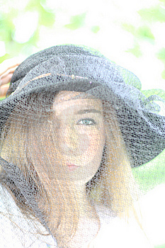 Girl In The Black Hat Stock Photo - Image: 19708160