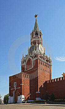 Clock Tower Of The Kremlin Stock Images - Image: 19708924