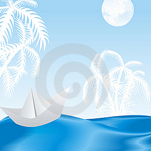 Tropical Island In The Azure Waves Royalty Free Stock Images - Image: 19709329