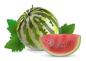 Watermelon With Slices Royalty Free Stock Photo - Image: 19709495