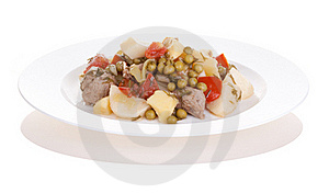 Potatoes With Meat Stock Image - Image: 19710141