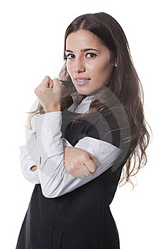 Woman With Arms Crossed Royalty Free Stock Photography - Image: 19710347