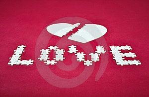 Love Broken Heart Puzzle Stock Photo - Image: 19710510