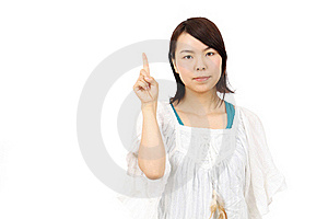 Young Asian Woman Hand Showing Blank Sign Royalty Free Stock Image - Image: 19712066