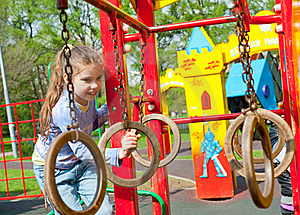 Girl Having Fun In Playground Royalty Free Stock Photography - Image: 19714167