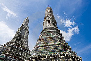 Beauty Temple With Blue Sky Royalty Free Stock Photography - Image: 19714217
